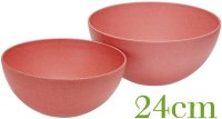 Salad bowl 24cm nature red