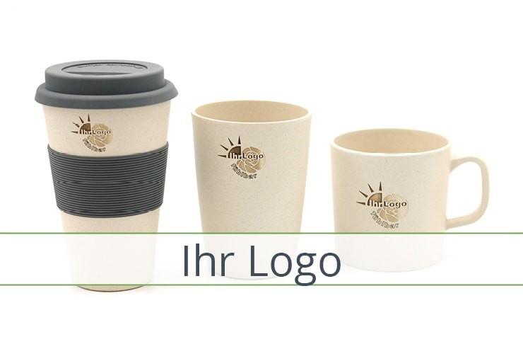 Bambus Becher Teller Schüsseln mit eigenem Logo