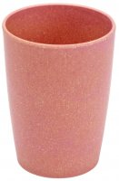 Bamboo cup nature red