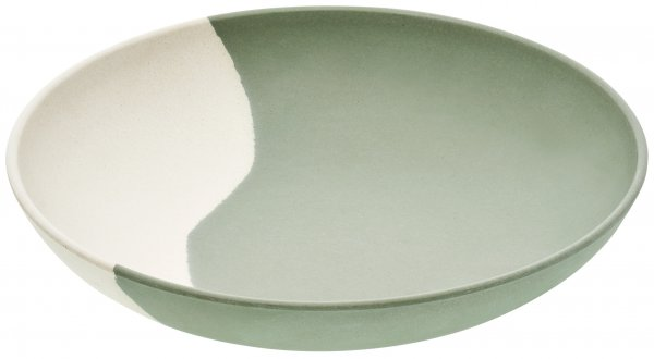 """Bamboo Plate """"LINE"""" 23 cm nature white"""