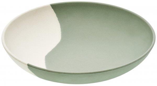Magu Teller tief 23cm Natur-Design green flow