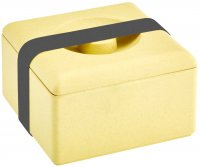 Bamboo multi purpose box square nature yellow