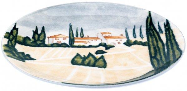 "Keramik Teller flach 27cm handbemalt ""SIENA"" - Magu 125 313"