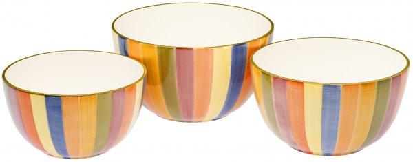 "Keramik Schale rund 28cm handbem. ""KARNEVALE"" - Magu 118 015"