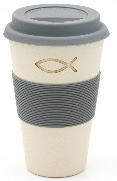 Christus Fisch - Bambus Coffee2go Becher
