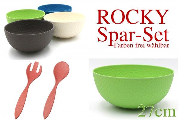 ROCKY - SPAR-SET - 1x 27cm 4x15cm + Salatbesteck