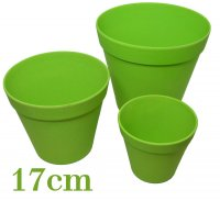 Bamboo flower pot 17cm nature green