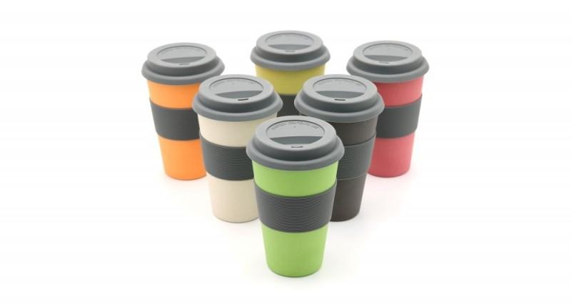Bambus Becher und Coffee2go