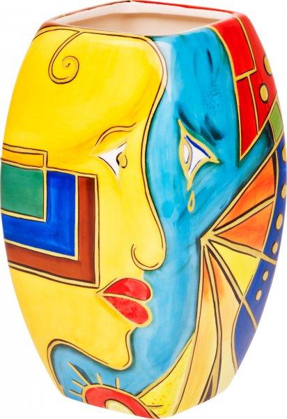 """Vase 25cm handbemalt """"FACE to FACE"""" - Magu 180 863"""