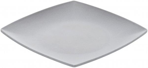 Magu Teller flach 21cm eckig NATUR-DESIGN silver