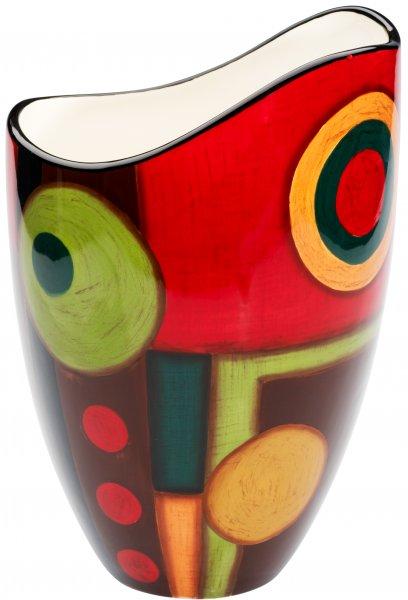 """Keramik Vase 25cm handbemalt """"SAMBA"""" - Magu 190 836"""