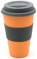 Bamboo Coffee to go cup nature orange
