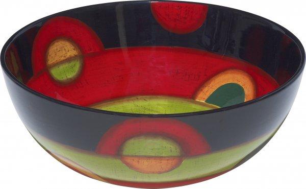 "Keramik Schale rund 25cm handbemalt ""SAMBA"" - Magu 190 117"