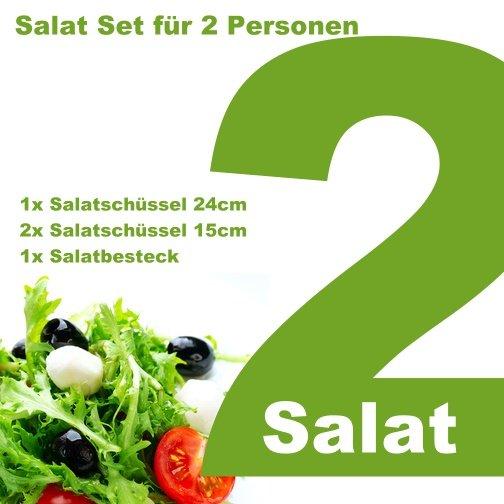 Bambus Salatset für 2 Personen