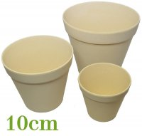 Bamboo flower pot 10cm nature white