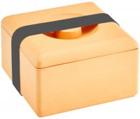 Bamboo multi-purpose box square nature orange