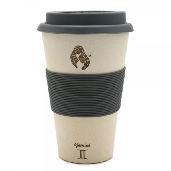 Zwillinge Sternzeichen Bambus Coffee 2 Go Becher Gemini