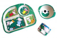 """Football"" kids dishes set"