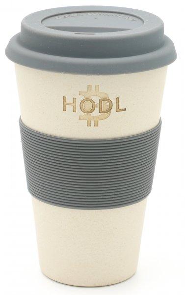 Magu HODL - Bitcoin - Bambus Coffee2go Becher 130 465