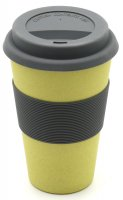 Bamboo Coffee to go cup nature yellow