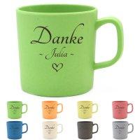 Danke-Kaffeebecher - Personalisiert mit Lasergravur