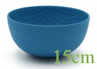 """ROCKY"" Bamboo bowl 15cm water blue"