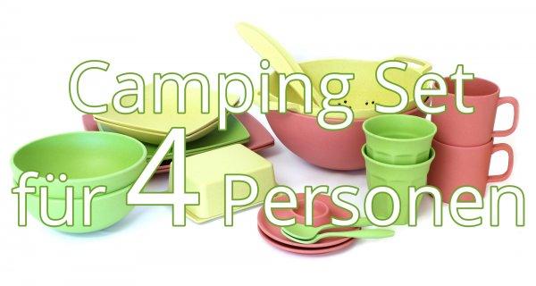 Camping Geschirr Set für 4 Personen