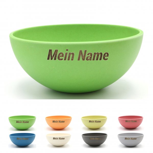 YOUR NAME on a 16cm bamboo bowl